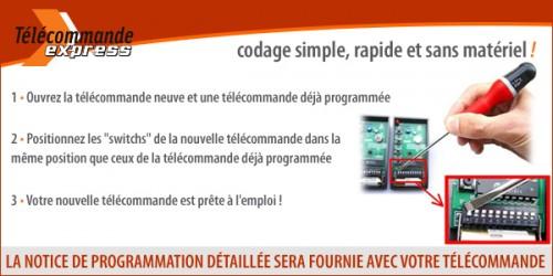Programmation de votre télécommande FAAC 433-DS-2 à switchs